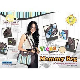 Baby Scots Platinum Mommy Bag Tas Perlengkapan Bayi Tampil Trendy mb026 jpg .