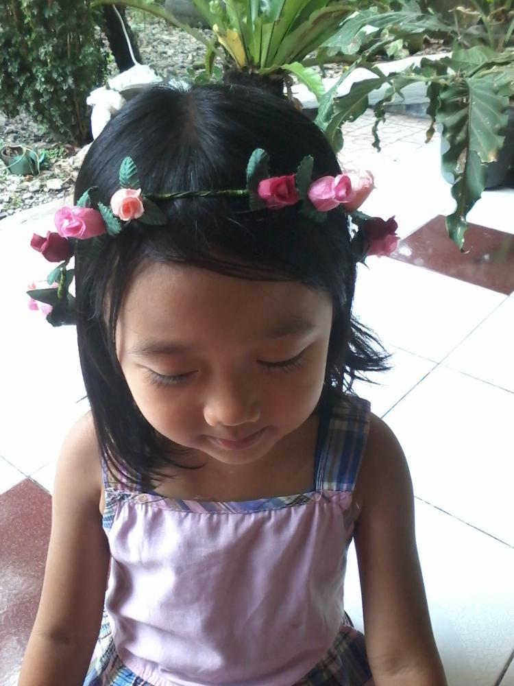 Flower crown / mahkota bunga untuk foto hamil atau bayi & anak FREE ...