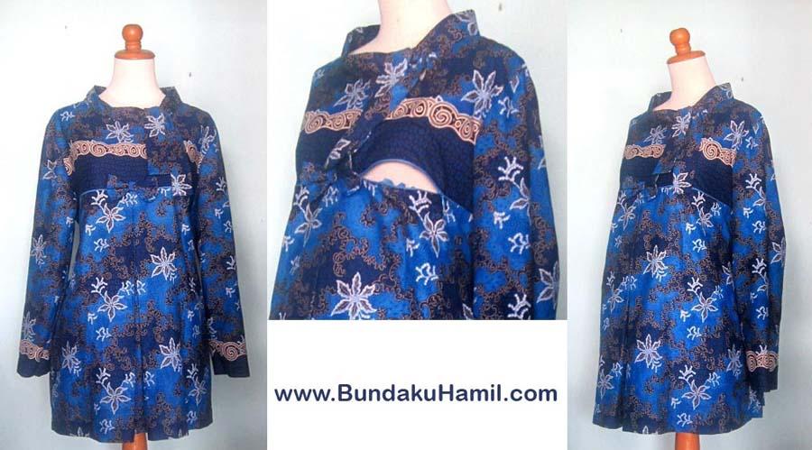 Baju Hamil Batik Menyusui Lengan Panjang Update Butik