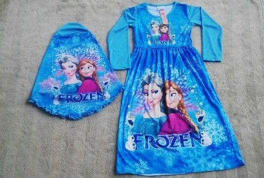 Baju Gamis Frozen Anak Baju Setelan Muslim Bayi Baju Koko