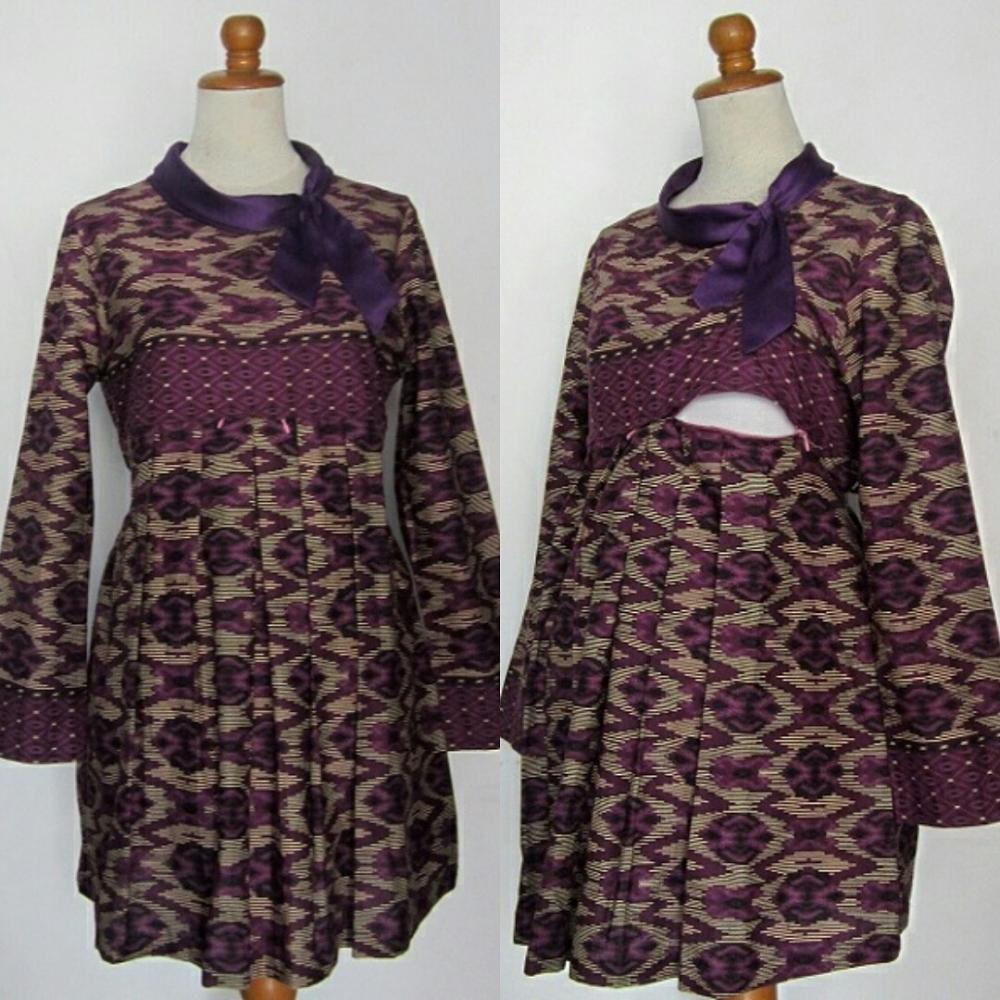 Contoh Gambar Baju Batik Modern: Gambar 14 Contoh Model Baju Batik Ibu Hamil Modern Terbaru