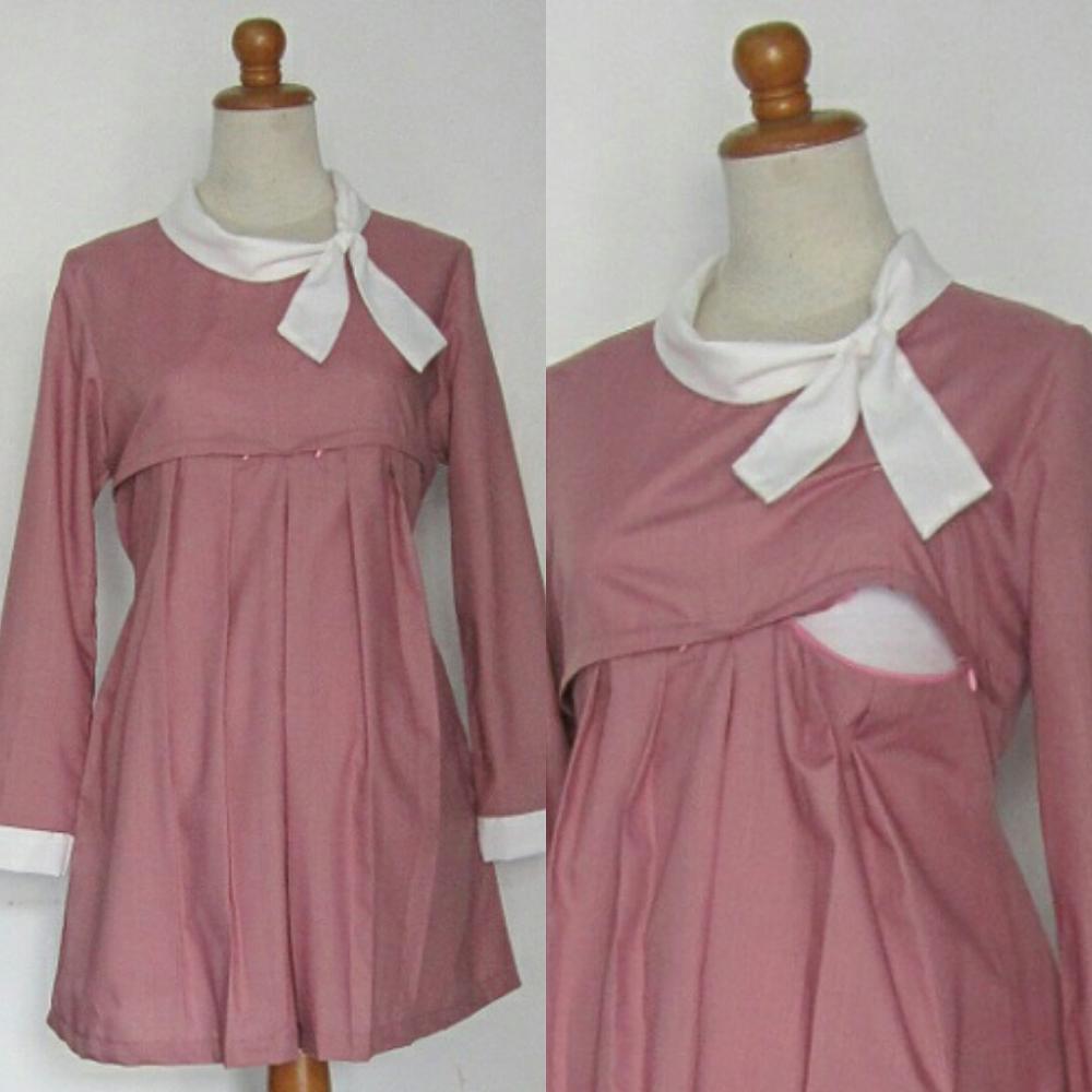 Model Blouse Batik Untuk Ibu Hamil Peach Chevron Blouse