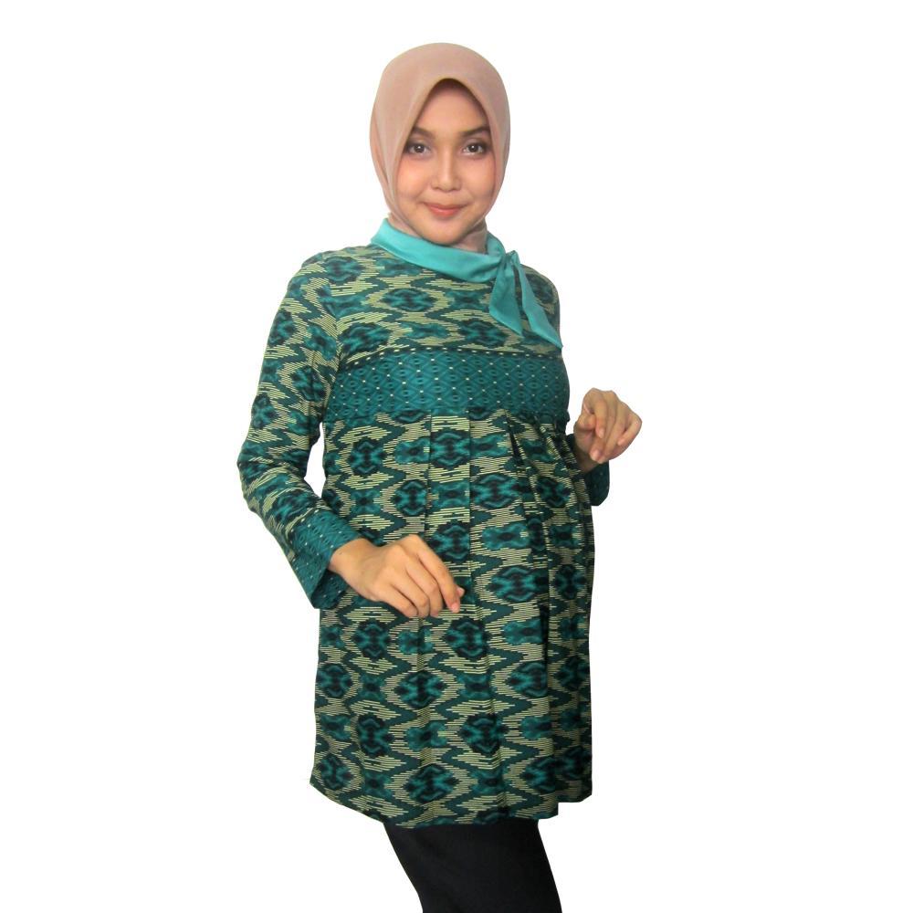 20407d1488018213 baju kerja hamil menyusui batik hamil blouse jumbo bawahan hamil bhb 071 tosca 2 500px copy