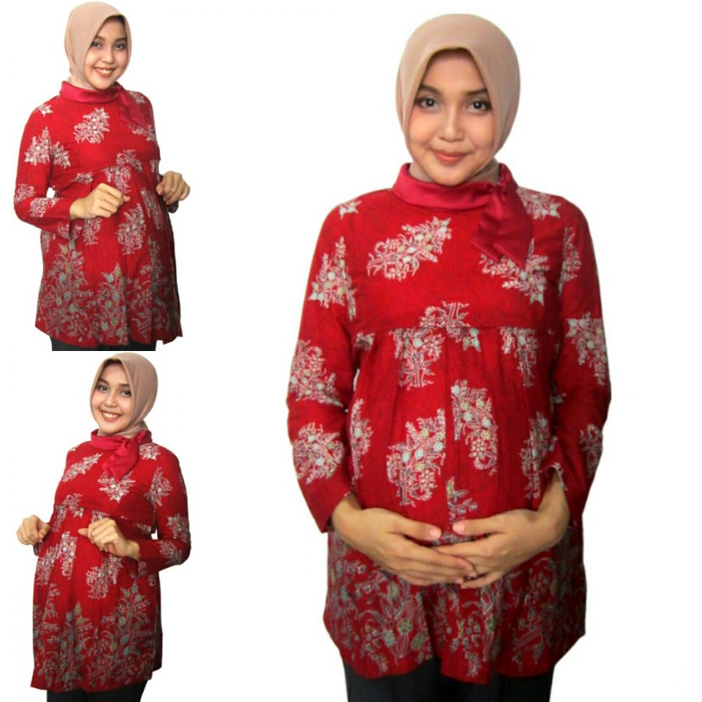 20410d1488018340 baju kerja hamil menyusui batik hamil blouse jumbo bawahan hamil img 20170130 060240
