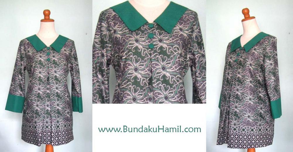 Model Blouse Batik Untuk Ibu Hamil Silk Pintuck Blouse